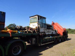 Arrival of Diesel Hydraulic loco RS 106 at Workshop