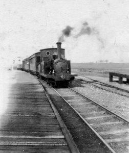 Train entering Blythburgh Station