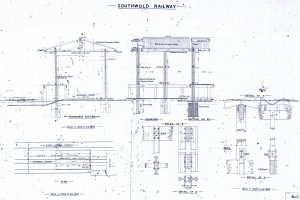 Plan of Trans-Shipment Building at Halesworth Narrow Gauge Station